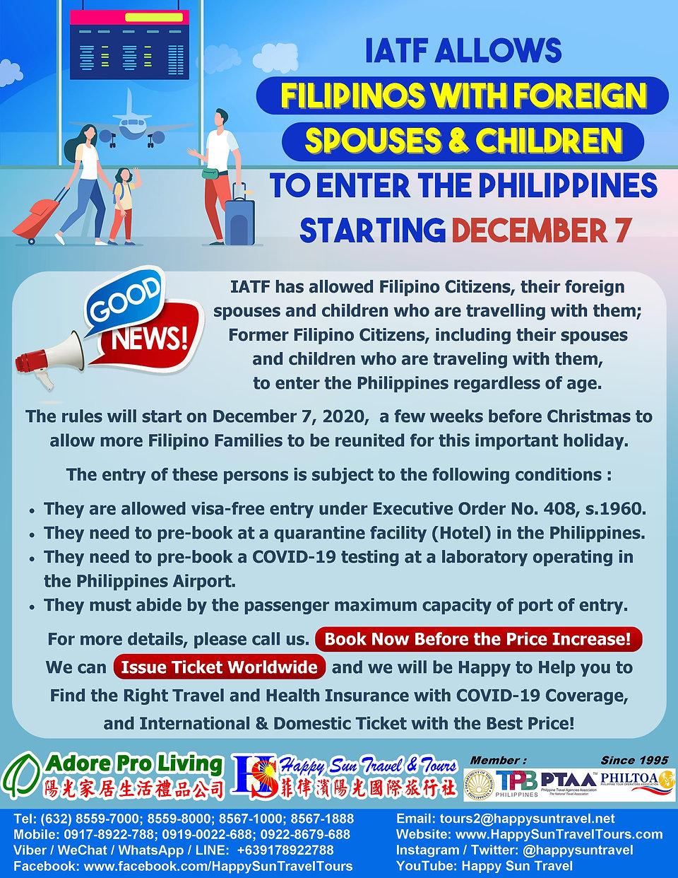 01.FilipinosWithSpouse&KidsAllowedEnterP