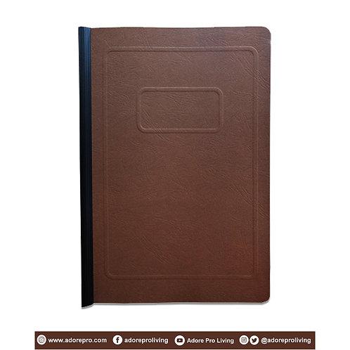 Morroco Folder with Slide / Long / Brown