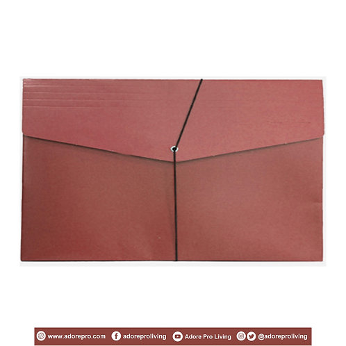 Envelope with Garter / Legal / Maroon