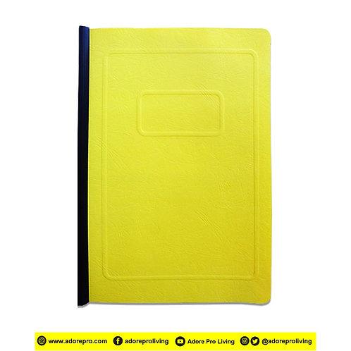 Morroco Folder with Slide / Long / Yellow
