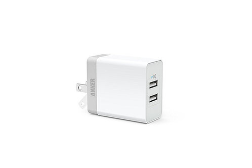 Anker 20W 2-Port USB Wall Charger with Foldable Plug