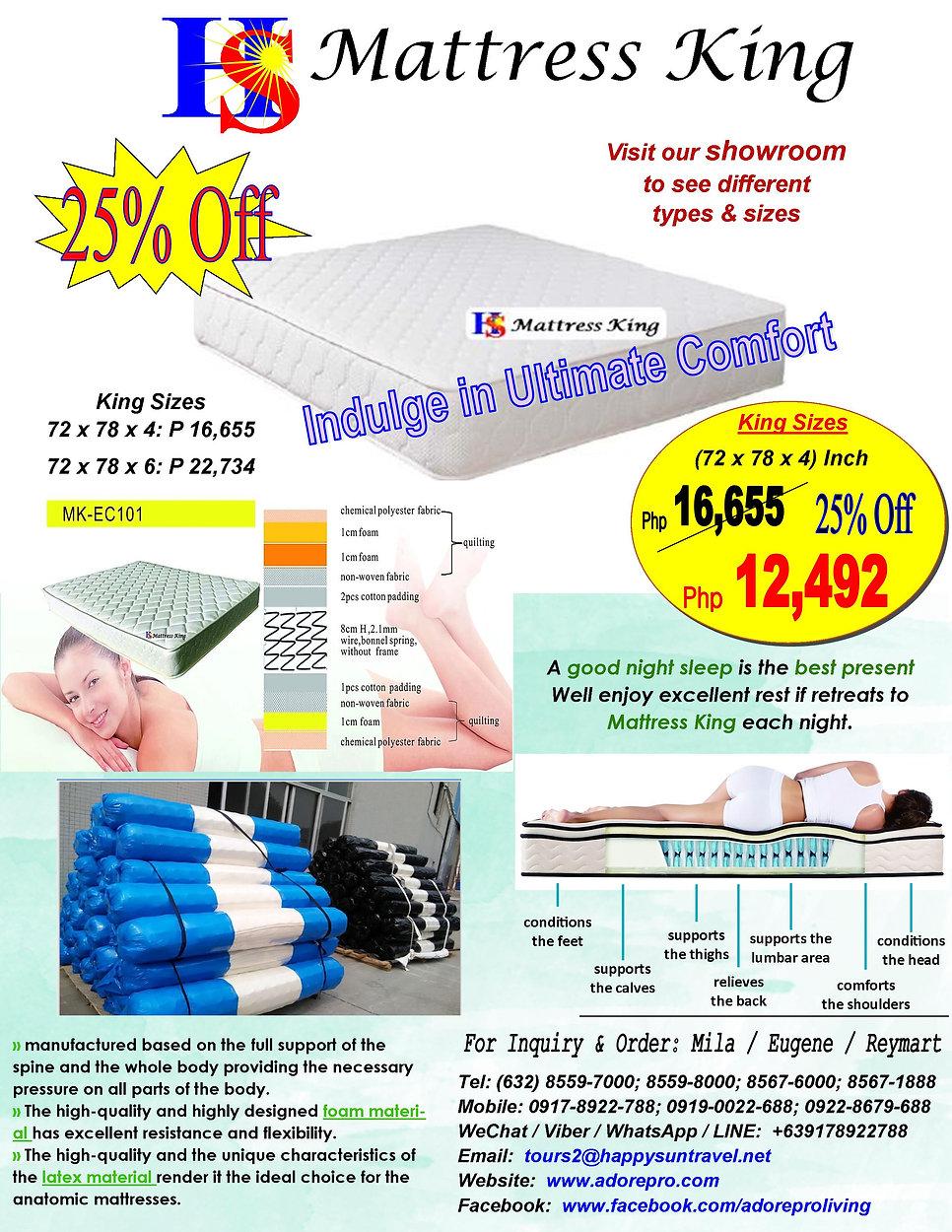 MattressKing_MK-EC101_KingSize_Sales(25%