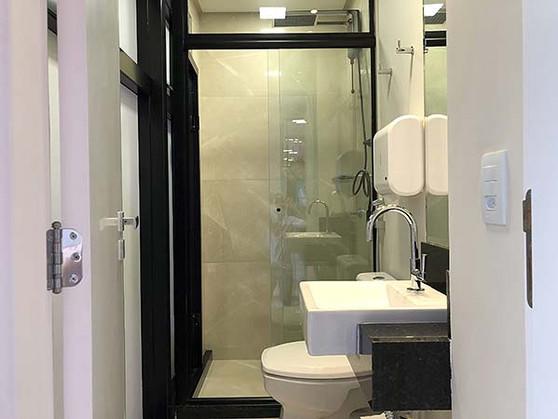 Banheiros separados masculino e feminino