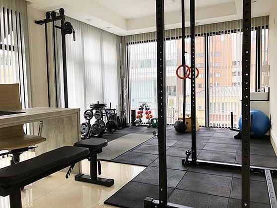 Sala de treinamento desportivo e funcional