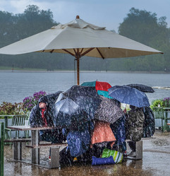 Downpour at the Serpentine by Shenan Chandler.