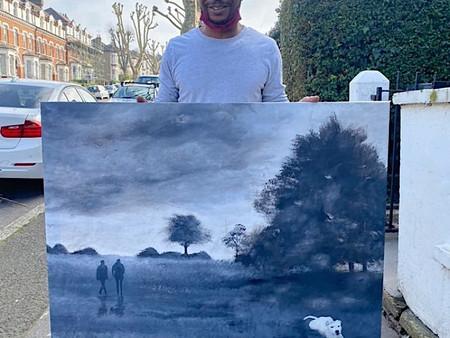 Wayne Coleman - a talented portrait artist with a winning south London landscape