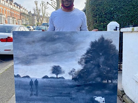 Wayne Coleman - a talented portrait artist with a winning south London landscape