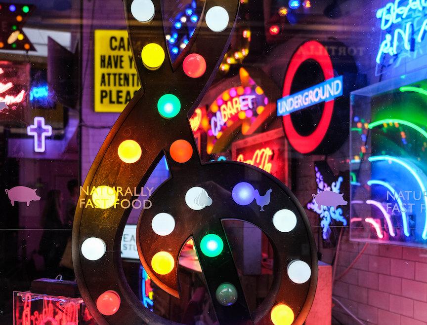 ORIGINAL PHOTO Neon Lights by McGinlay