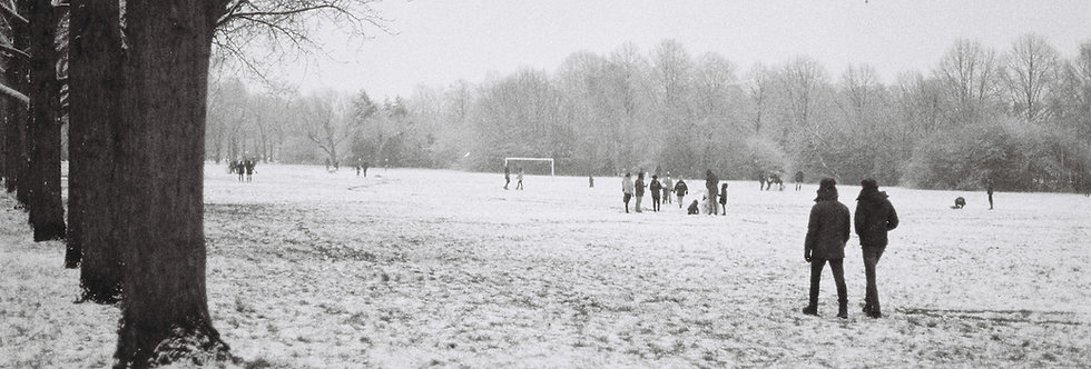 ORIGINAL PHOTO Winter Park Scene by Hugh Gary