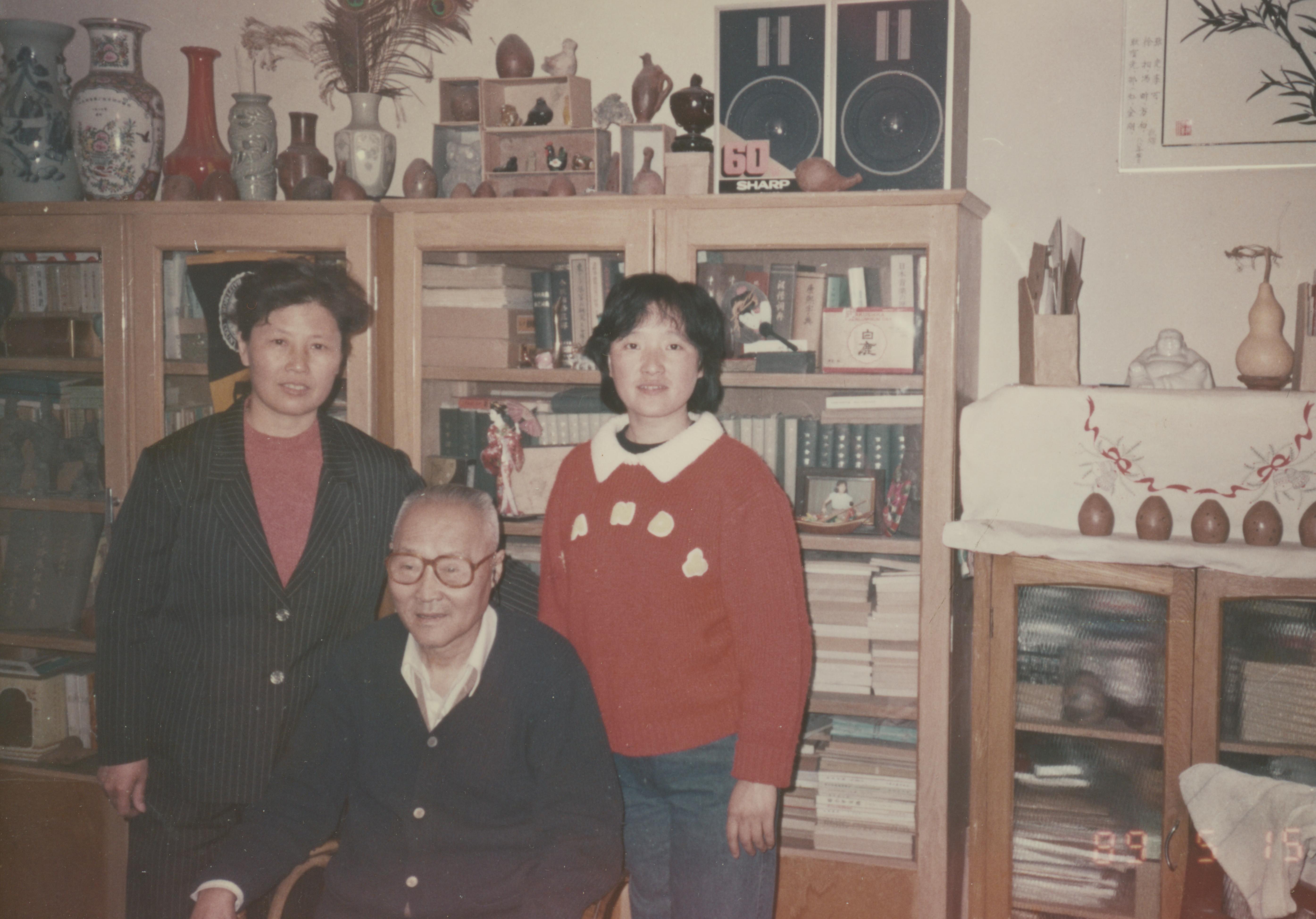 87年在曹正老师家中合影留念