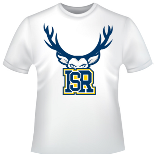 Adult - White T-shirt ISR logo