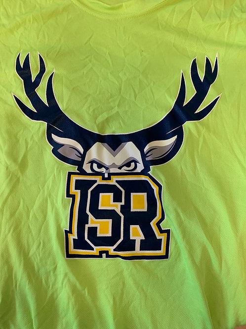Adults - Yellow Fluorescent T-shirt ISR logo