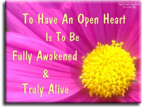 LOVE WITH AN OPEN HEART