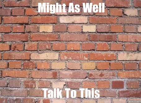 MIGHT AS WELL TALK TO A BRICK WALL
