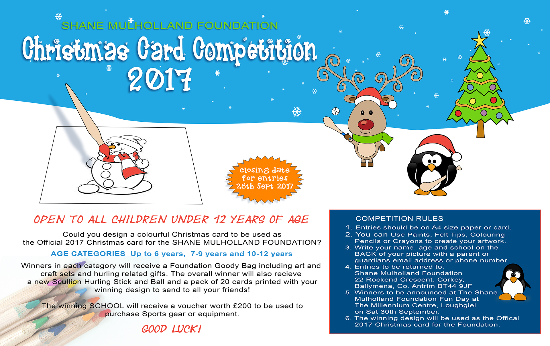 Design a Christmas Card Competition | Shane Mulholland Foundation