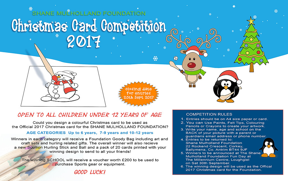 Shane Mulholland Foundation Christmas Card Competition