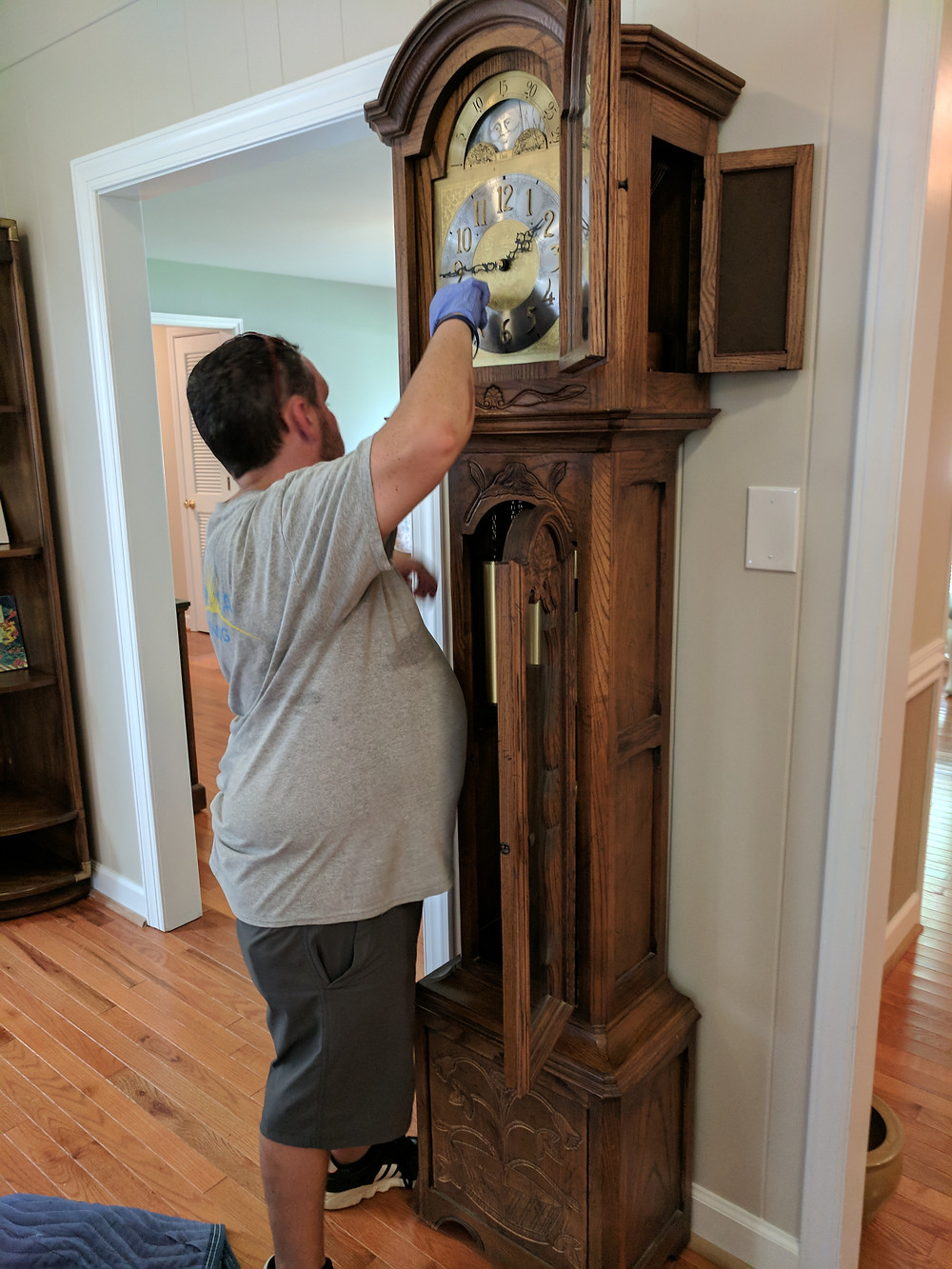 The Grandfather Clock gets attention