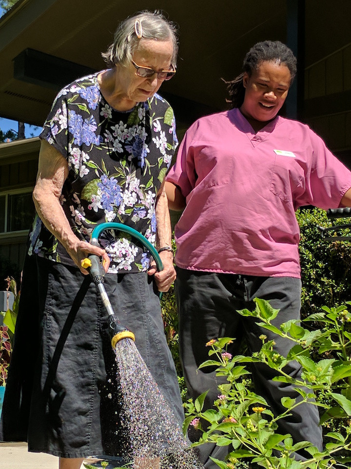 Gardening at August Estates, staff