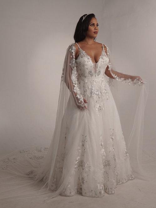 Winslet Set - Gown & Cape