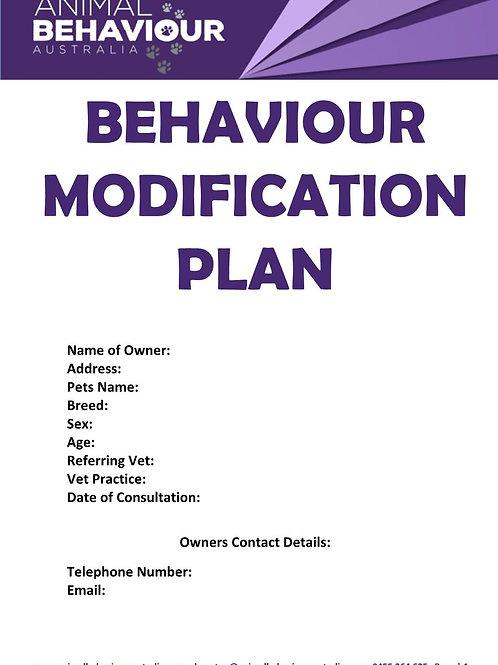 BEHAVIOUR MODIFICATION PLAN
