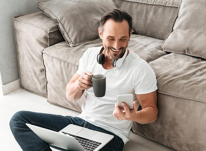 bigstock-Laughing-mature-man-talking-on-