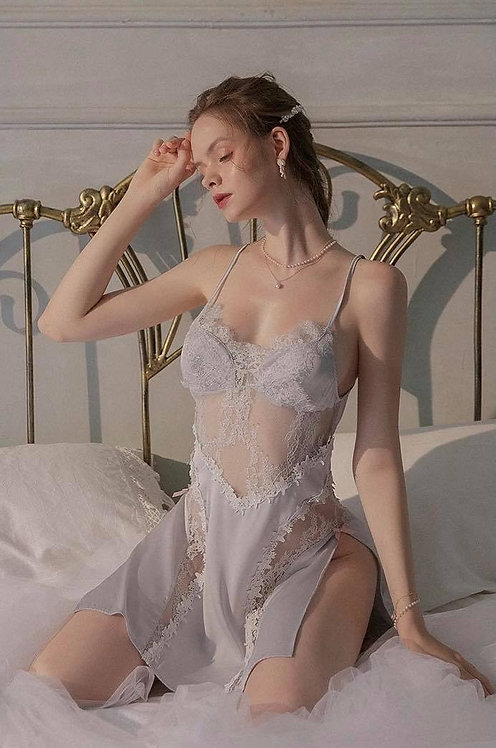 Sexy Pajamas for Women Ice Silk Robes and Nightdress