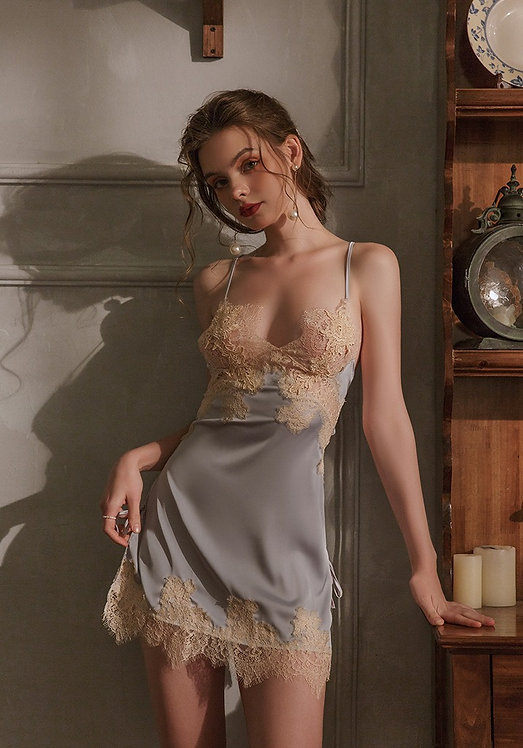 Luxury Sexy Silk Nightdress New winter