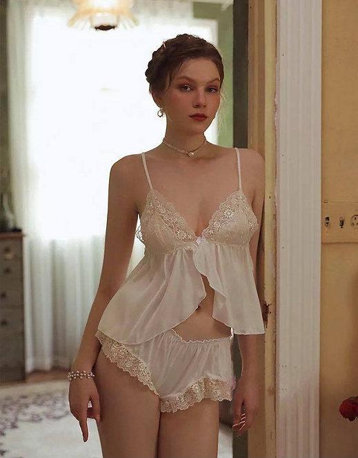 Sexy Beauty Series Sexy Silk Pajamas for Women Sleepwear