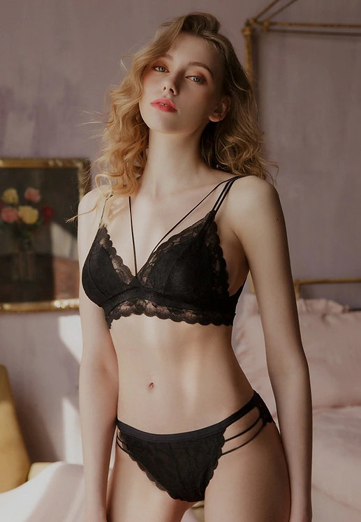 Sexy Lace Bra Set Ultra-thin breathable Lace