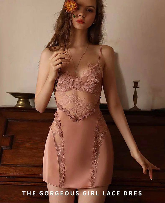 Sexy Pajamas for Women Ice Silk Robes andNightdress