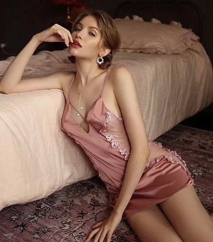 Soft Silk Nightgown Lace
