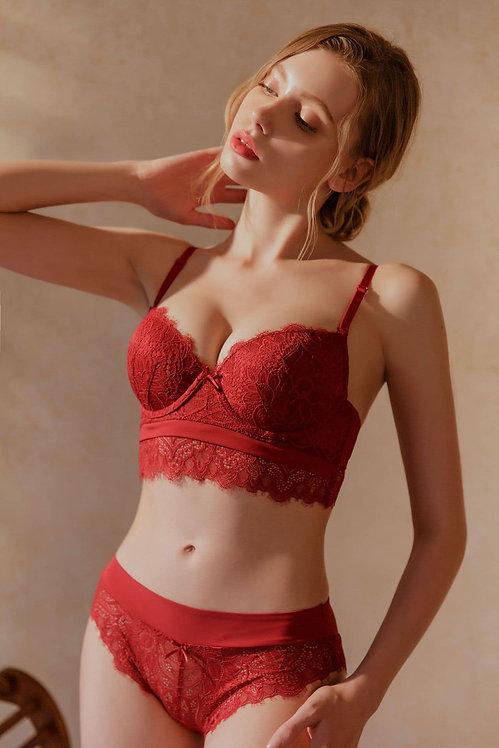 High-end embroidered bra set