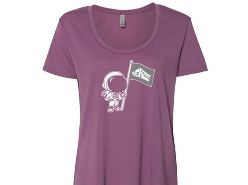 Women's Mauve Spaceman T-shirt