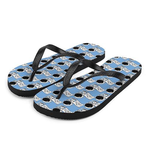 Blue Spaceman Flip-Flops
