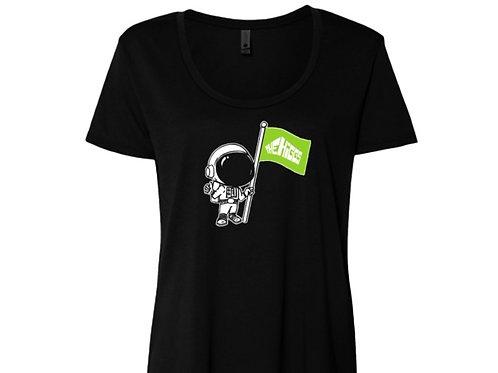 Women's Spaceman Black T-shirt