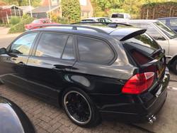 BMW 3-serie blinderen, chroom delete