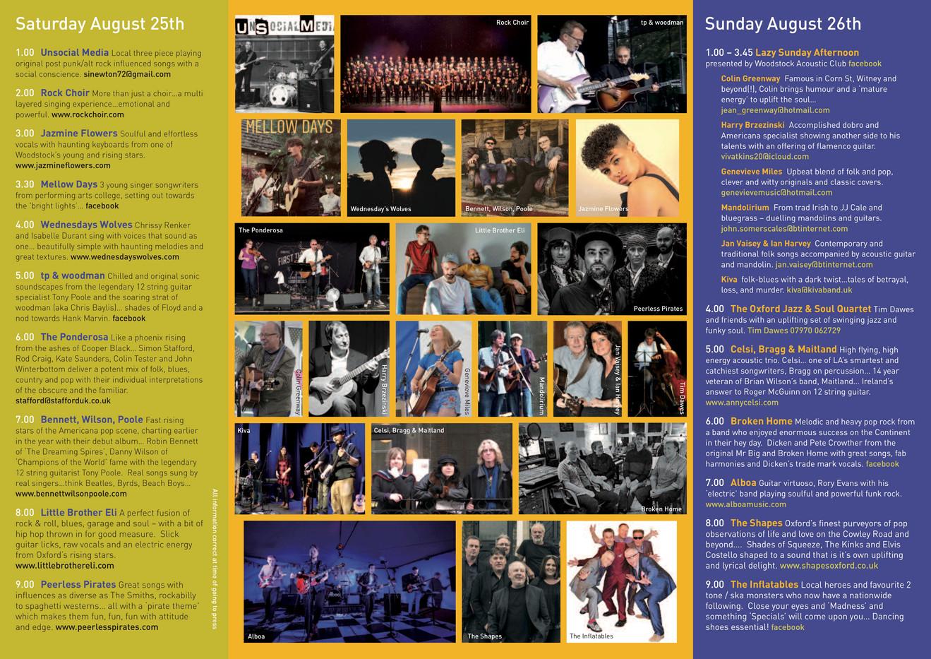 Woodstock Live 2018 brochure