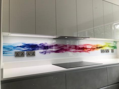 Rainbow Smoke Printed Splashback