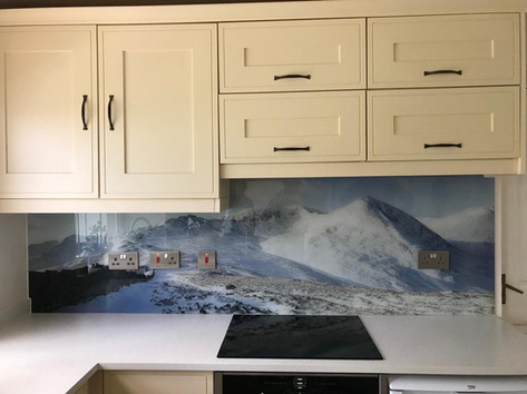 Mountain Print splashback