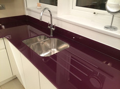 Aubergine worktop and upstands