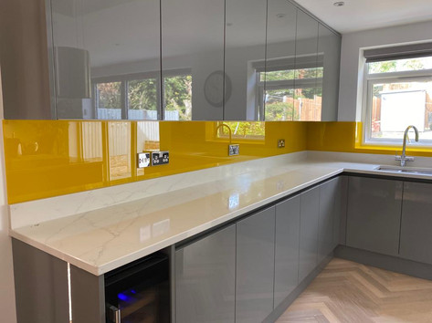 RAL 1003 Splashbacks