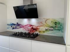 Rainbow Smoke Print Splashback