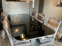 Grey Smoked Mirror Tabletop