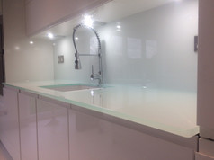 Mint splashbacks and worktop