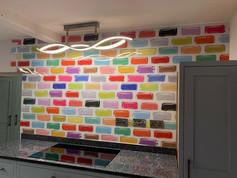 Coloured Brick Print