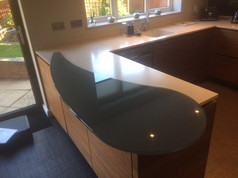 Bespoke glass worktop