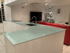 15mm Bespoke Mint Worktop