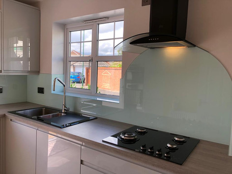 Mint Splashback Hood Shaped