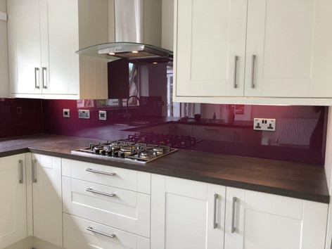Aubergine splashbacks