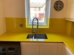 RAL 1021 Colour Matched Worktop